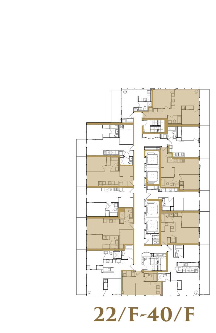 22/F-40/F Upper Typical Floorplate