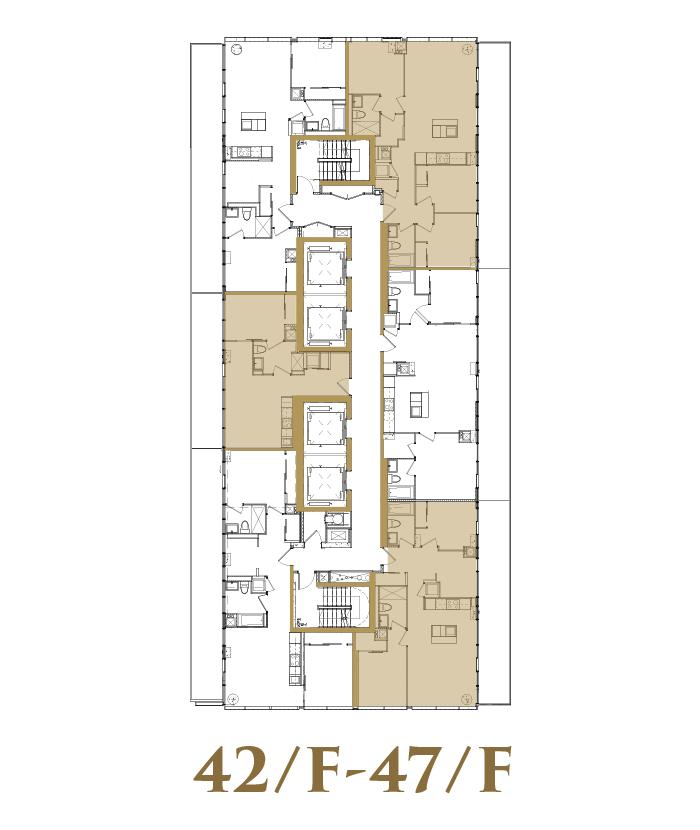 42/F-47/F Sub PH Floorplate